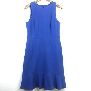 J.crew dropped ruffled hem blue dress